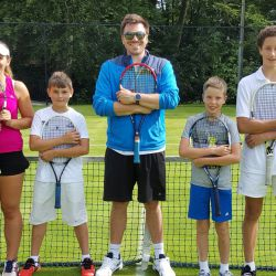 Groupe de Tennis au camp